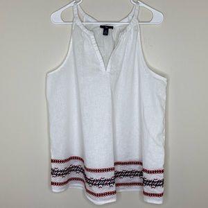 Gap White Sleeveless Tunic Shirt Women's XL